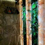 Ніші з моху і рослин в спа приватного будинку