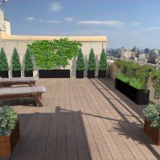 Озеленення даху, терас