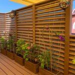 Озеленення тераси в авторських кашпо з дерева